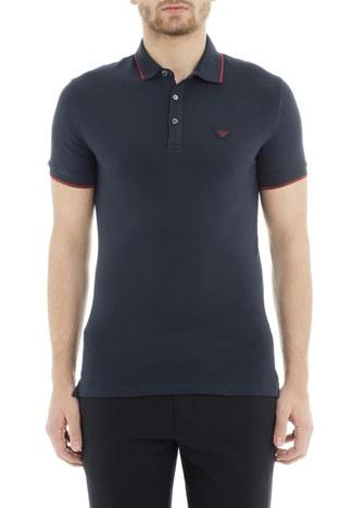 Emporio Armani - Emporio Armani Erkek T Shirt 6Z1FB6 1J40Z 0922 LACİVERT