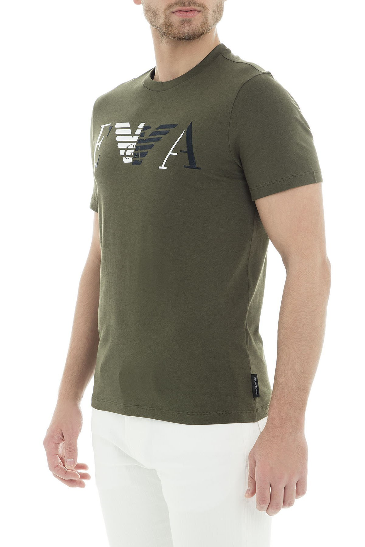 Emporio Armani Erkek T Shirt 6Z1TF3 1J00Z 0584 HAKİ