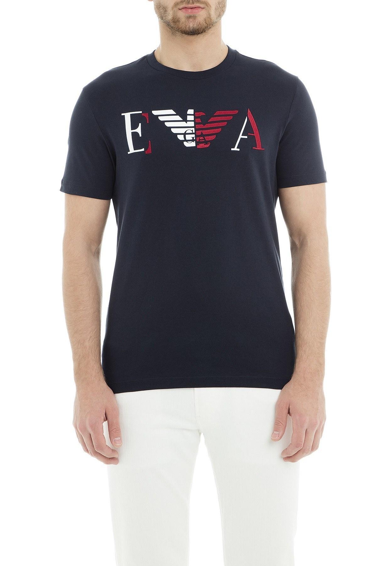 Emporio Armani Erkek T Shirt 6Z1TF3 1J00Z 0922 LACİVERT