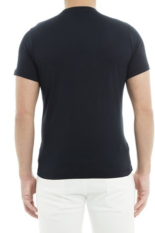 Emporio Armani - Emporio Armani Erkek T Shirt 6Z1TS0 1JQUZ 0920 LACİVERT (1)