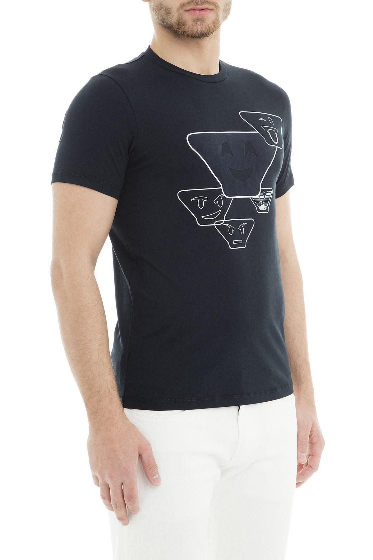 Emporio Armani Erkek T Shirt 6Z1TS0 1JQUZ 0920 LACİVERT