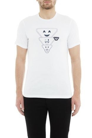 Emporio Armani - Emporio Armani Erkek T Shirt 6Z1TS2 1JQUZ 0100 BEYAZ