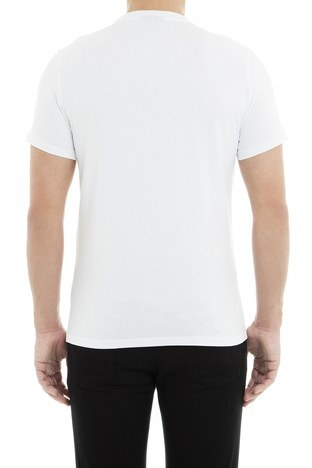 Emporio Armani - Emporio Armani Erkek T Shirt 6Z1TS2 1JQUZ 0100 BEYAZ (1)