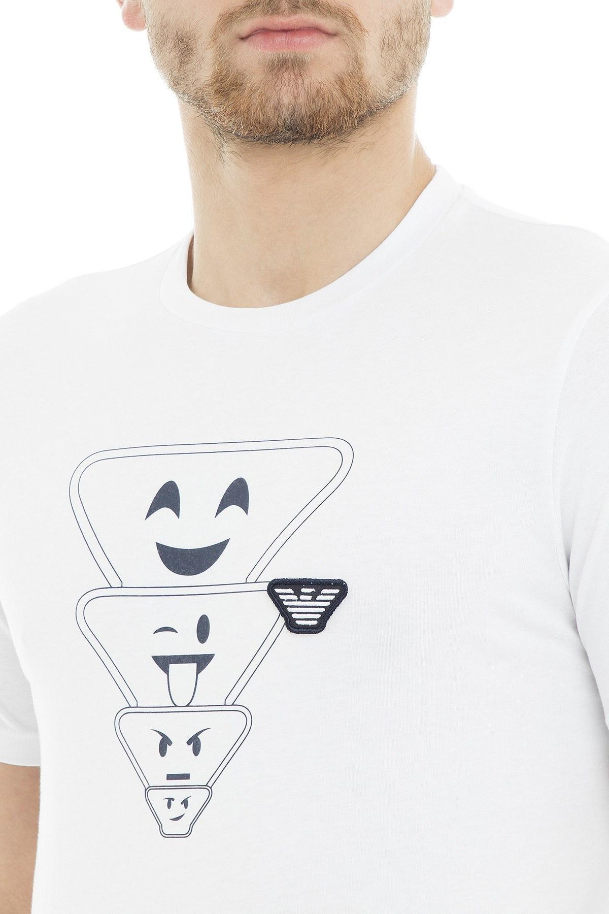 Emporio Armani Erkek T Shirt 6Z1TS2 1JQUZ 0100 BEYAZ
