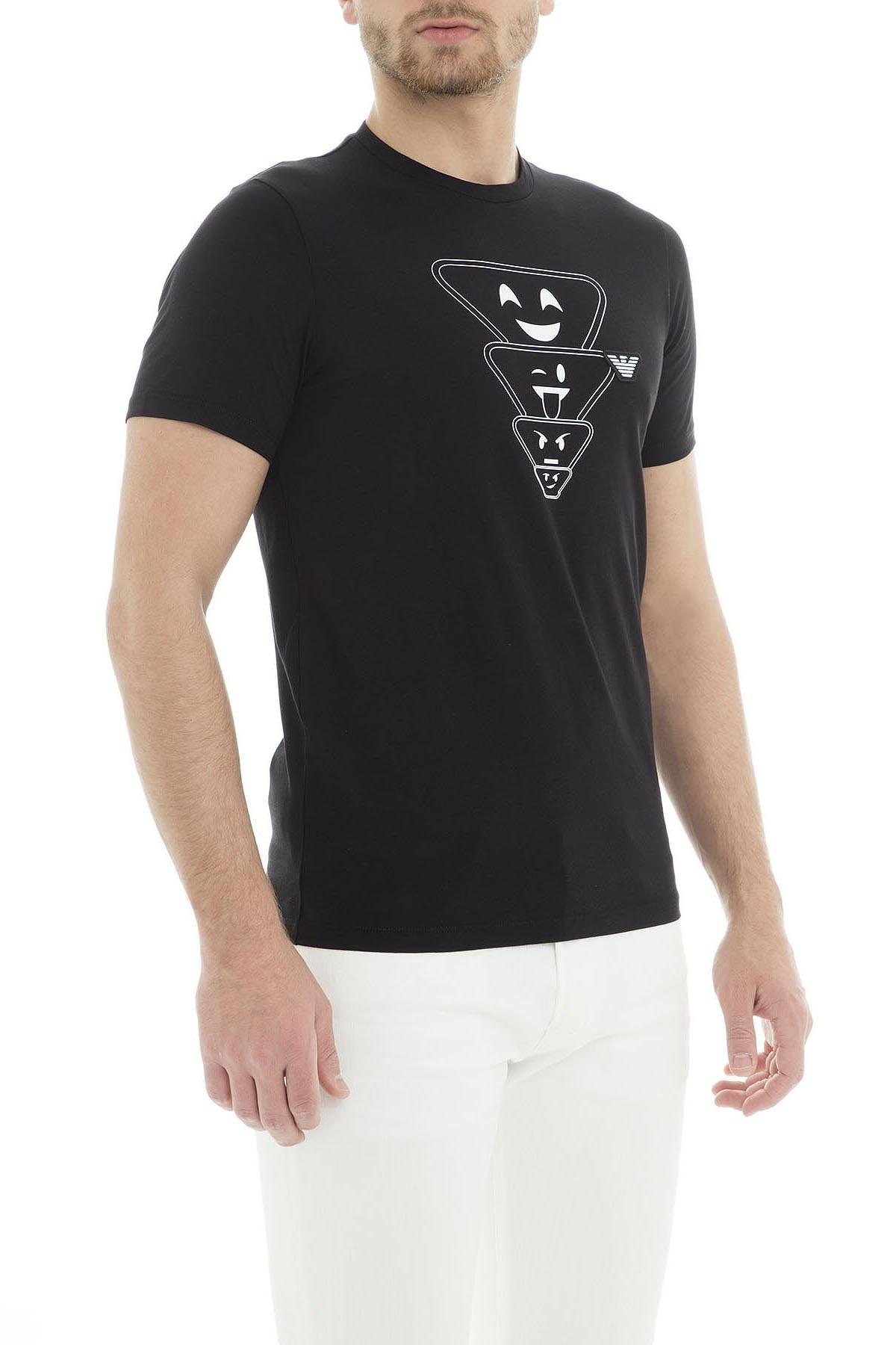 Emporio Armani Erkek T Shirt 6Z1TS2 1JQUZ 0999 SİYAH