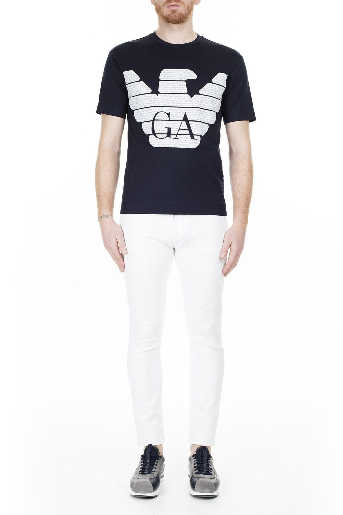 Emporio Armani Erkek T Shirt 8N1T7H 1JCQZ 0920 LACİVERT