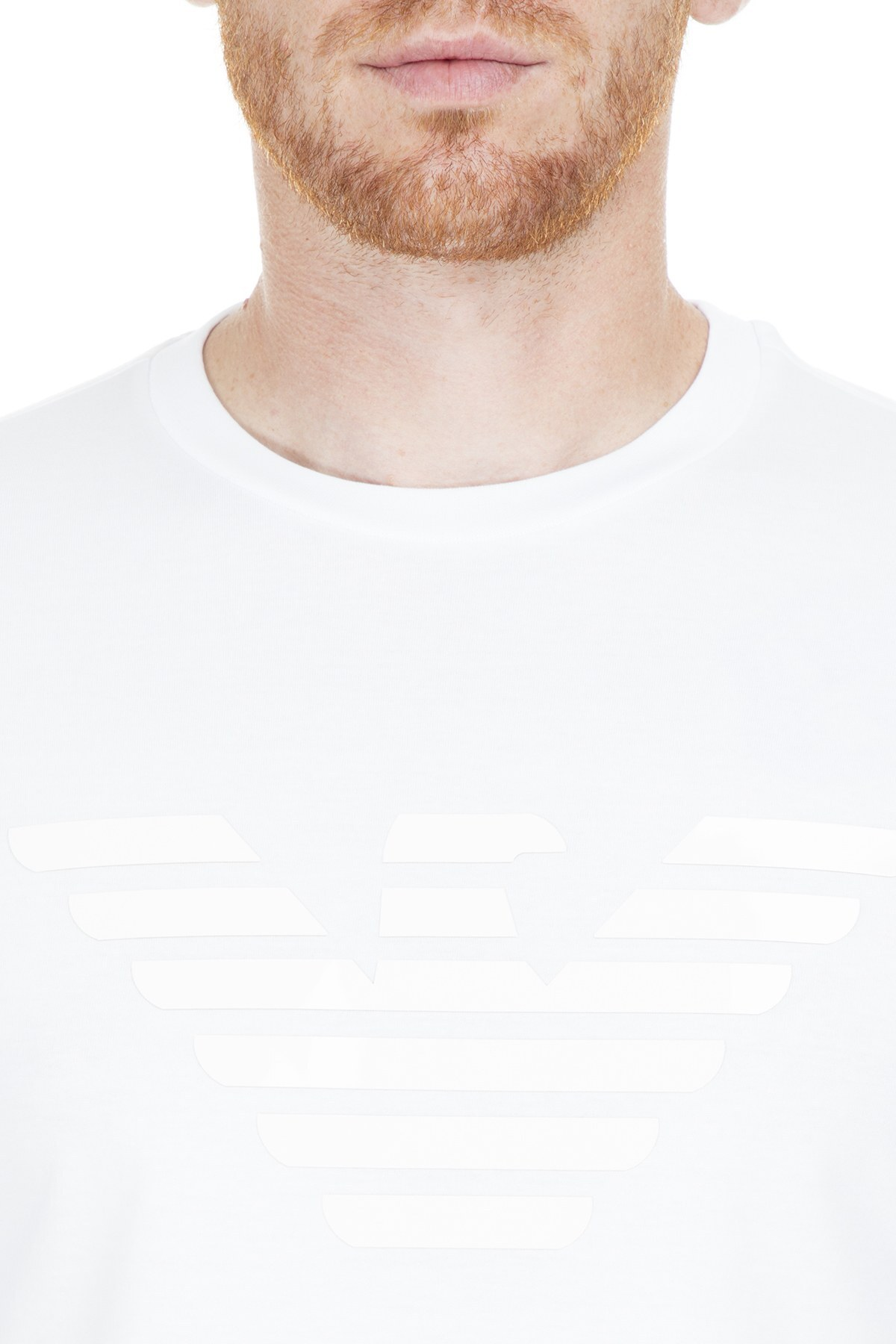 Emporio Armani Erkek T Shirt S 3G1T92 1J00Z 0134 BEYAZ