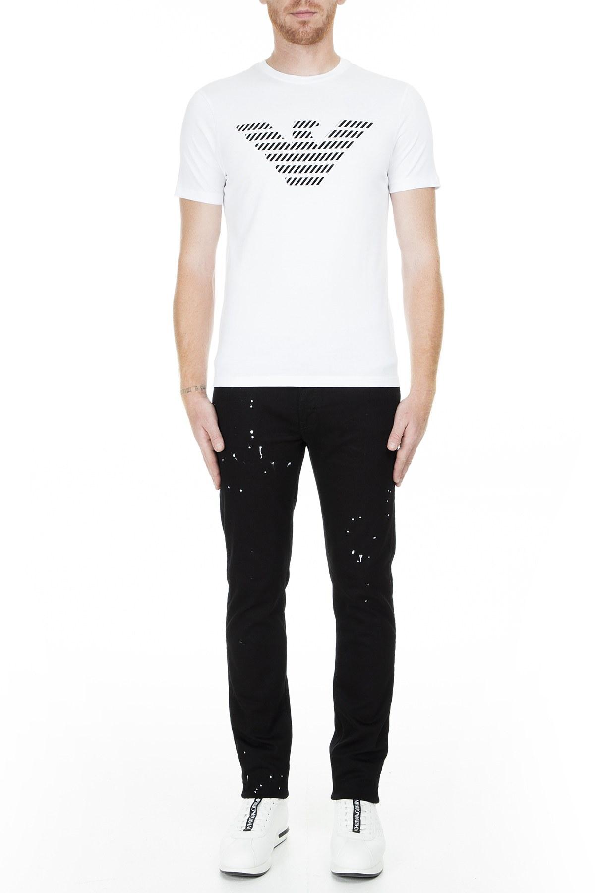 Emporio Armani Erkek T Shirt S 3G1T94 1J30Z 0100 BEYAZ