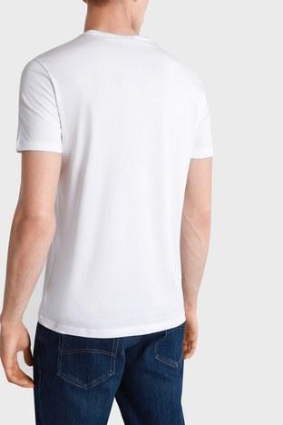 Emporio Armani - Emporio Armani Erkek T Shirt S 3K1TAT 1JSHZ 0100 BEYAZ (1)