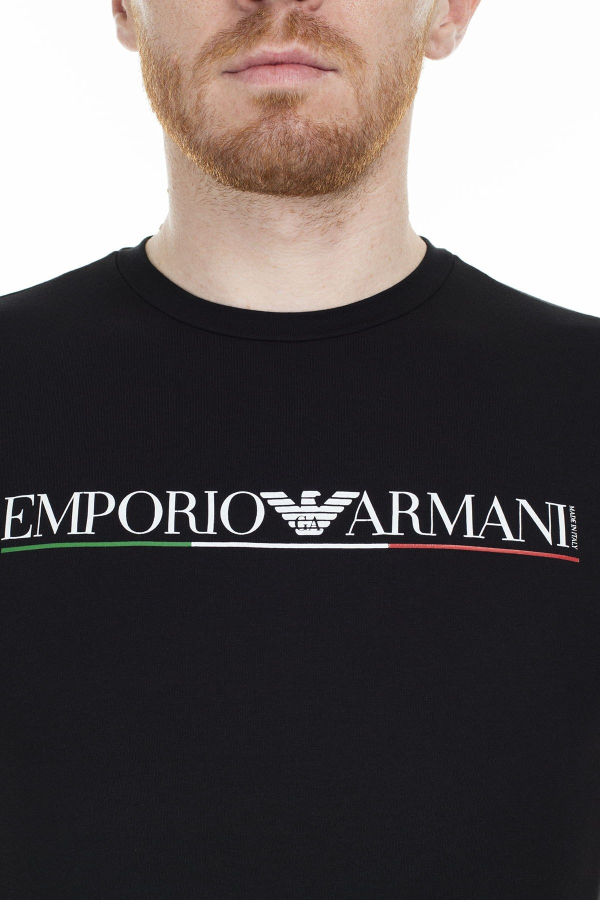 Emporio Armani Erkek T Shirt S 6G1TB8 1J11Z 0999 SİYAH