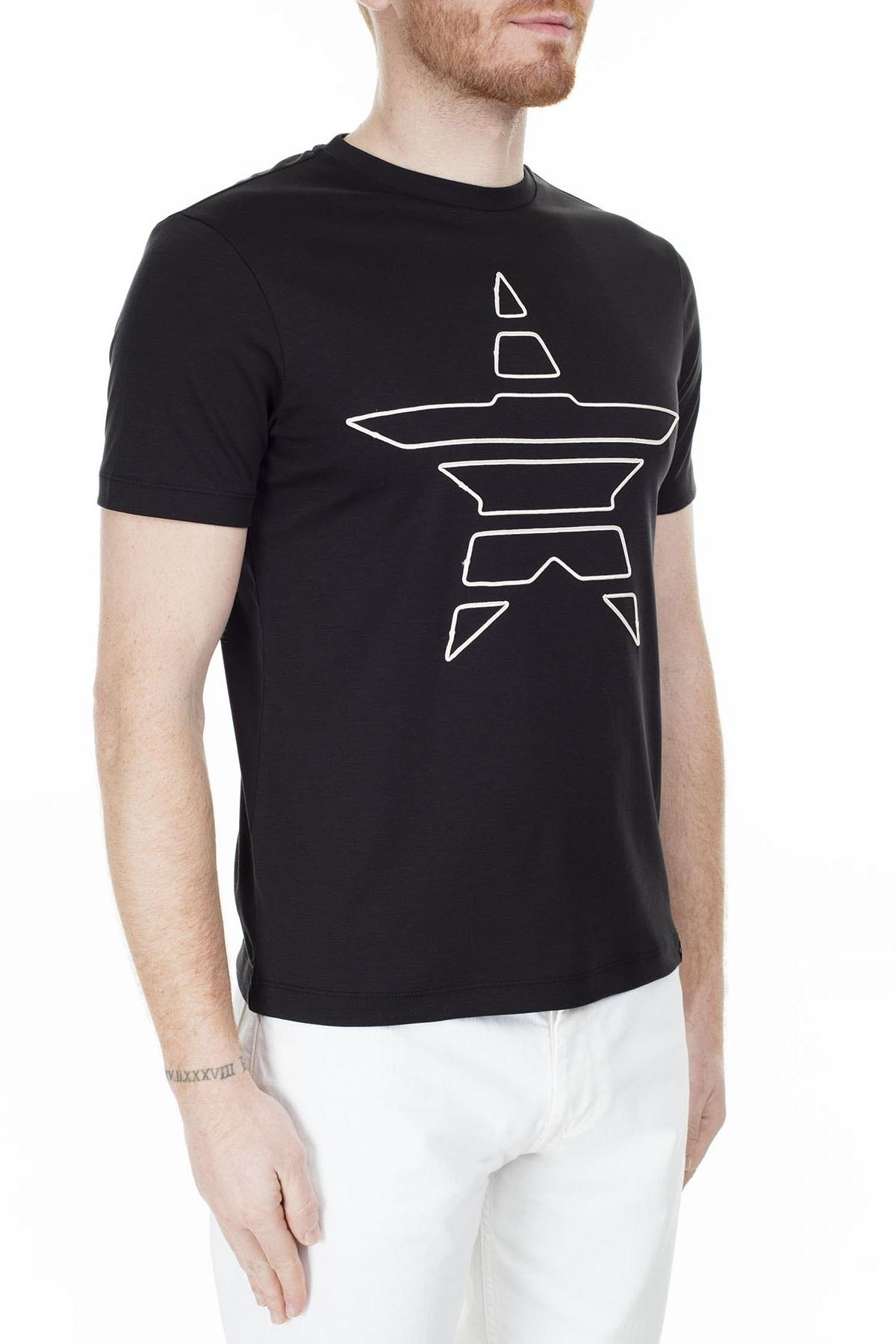 Emporio Armani Erkek T Shirt S 6G1TE2 1JPRZ 0002 SİYAH