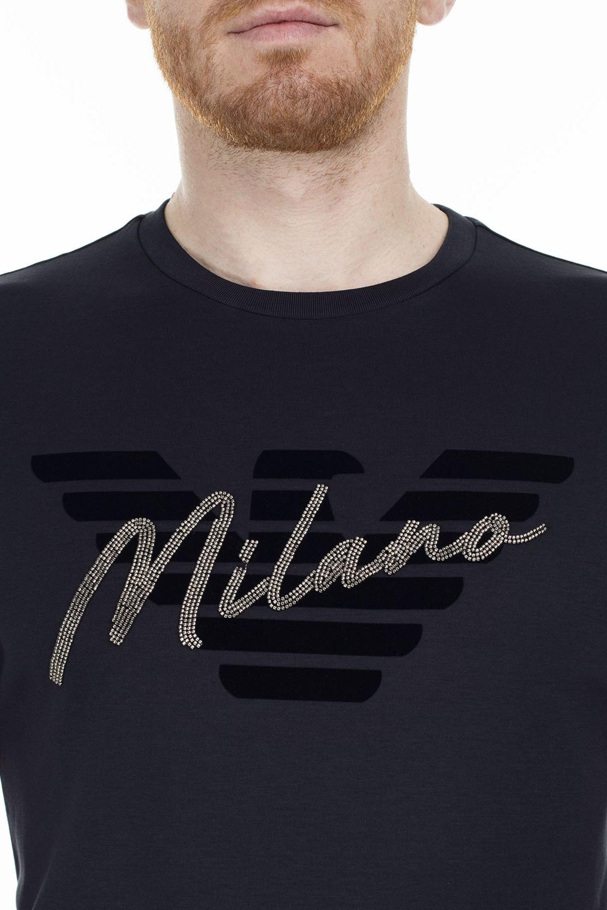 Emporio Armani Erkek T Shirt S 6G1TF0 1JPRZ 0922 LACİVERT