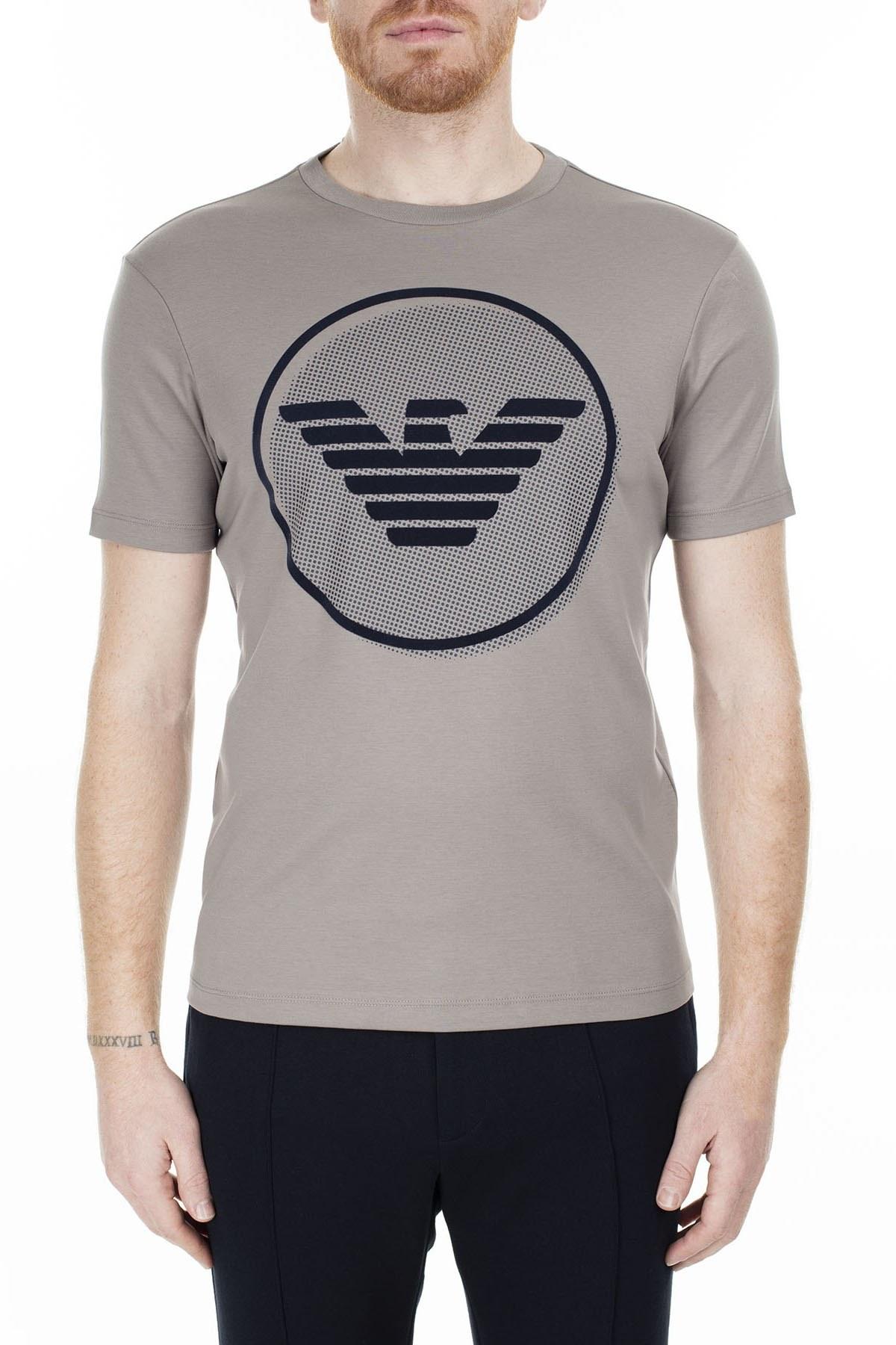Emporio Armani Erkek T Shirt S 6G1TF5 1JPRZ 0654 VİZON