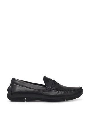 Emporio Armani - Emporio Armani Hakiki Deri Erkek Ayakkabı X4B125 XM225 D616 SİYAH
