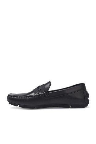 Emporio Armani - Emporio Armani Hakiki Deri Erkek Ayakkabı X4B125 XM225 D616 SİYAH (1)