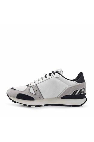 Emporio Armani - Emporio Armani Hakiki Deri Spor Erkek Ayakkabı X4X289 XM499 Q097 BEYAZ-GRİ (1)
