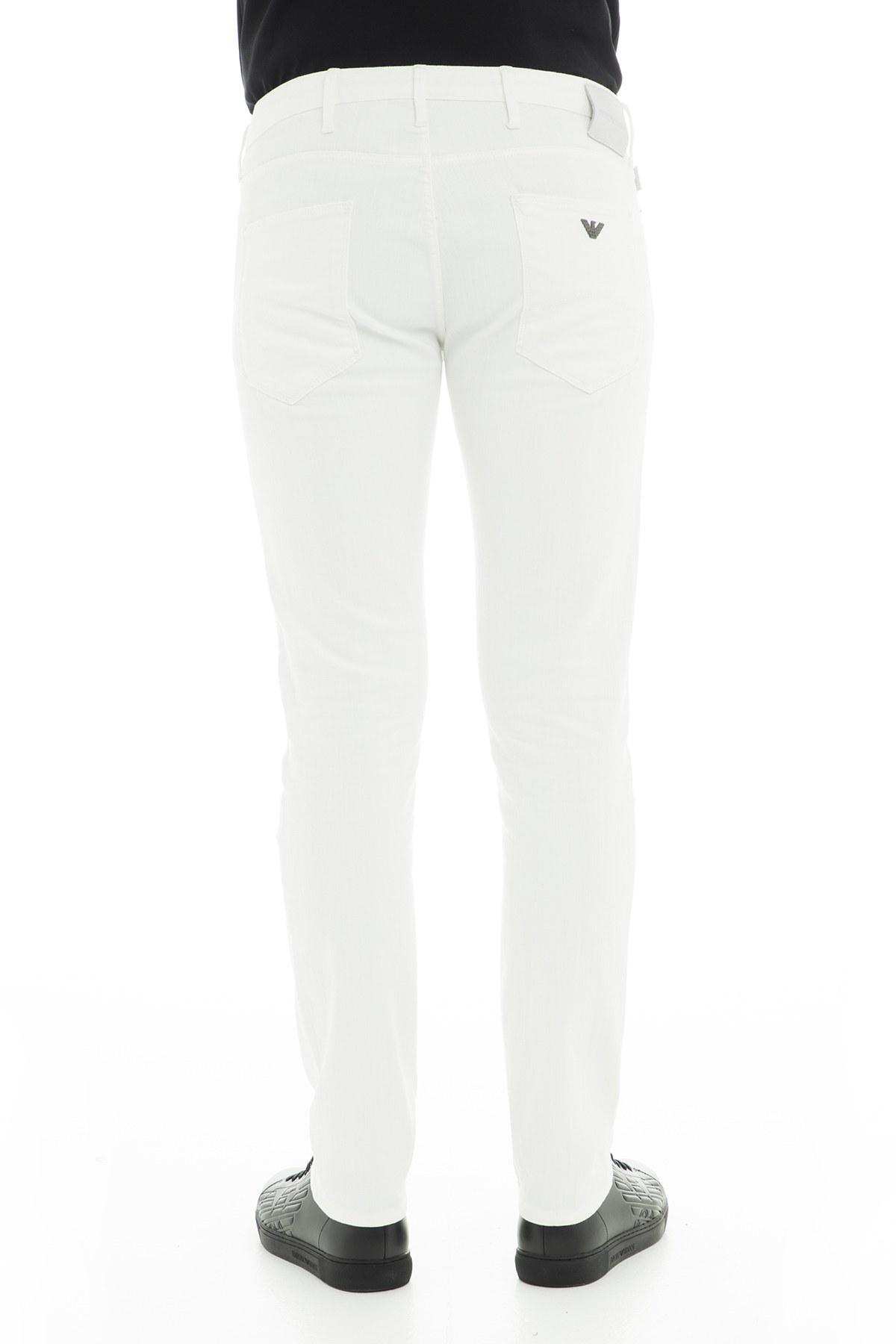Emporio Armani J06 Jeans Erkek Kot Pantolon 3G1J06 1D2CZ 0135 BEYAZ