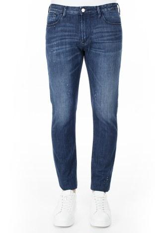 Emporio Armani - Emporio Armani J06 Jeans Erkek Kot Pantolon 3H1J06 1D9SZ F977 LACİVERT (1)