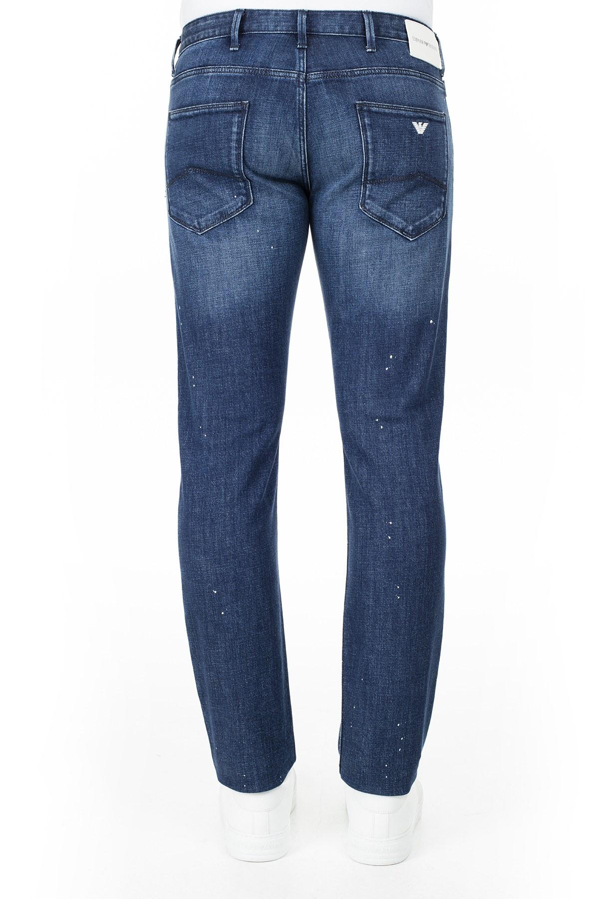 Emporio Armani J06 Jeans Erkek Kot Pantolon 3H1J06 1D9SZ F977 LACİVERT