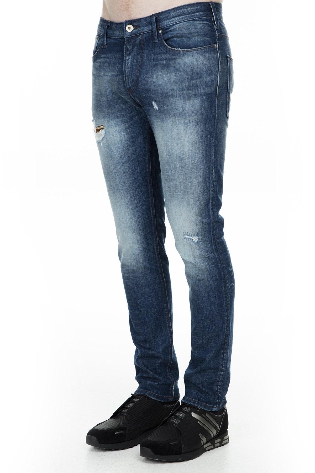Emporio Armani J06 Jeans Erkek Kot Pantolon 6G1J06 1D6YZ 0941 LACİVERT