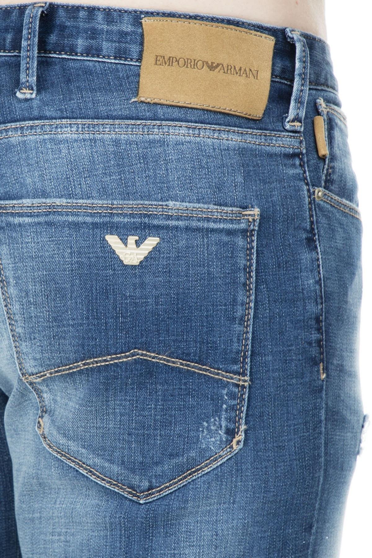 Emporio Armani J06 Jeans Erkek Kot Pantolon S 3G1J06 1D5MZ 941 LACİVERT