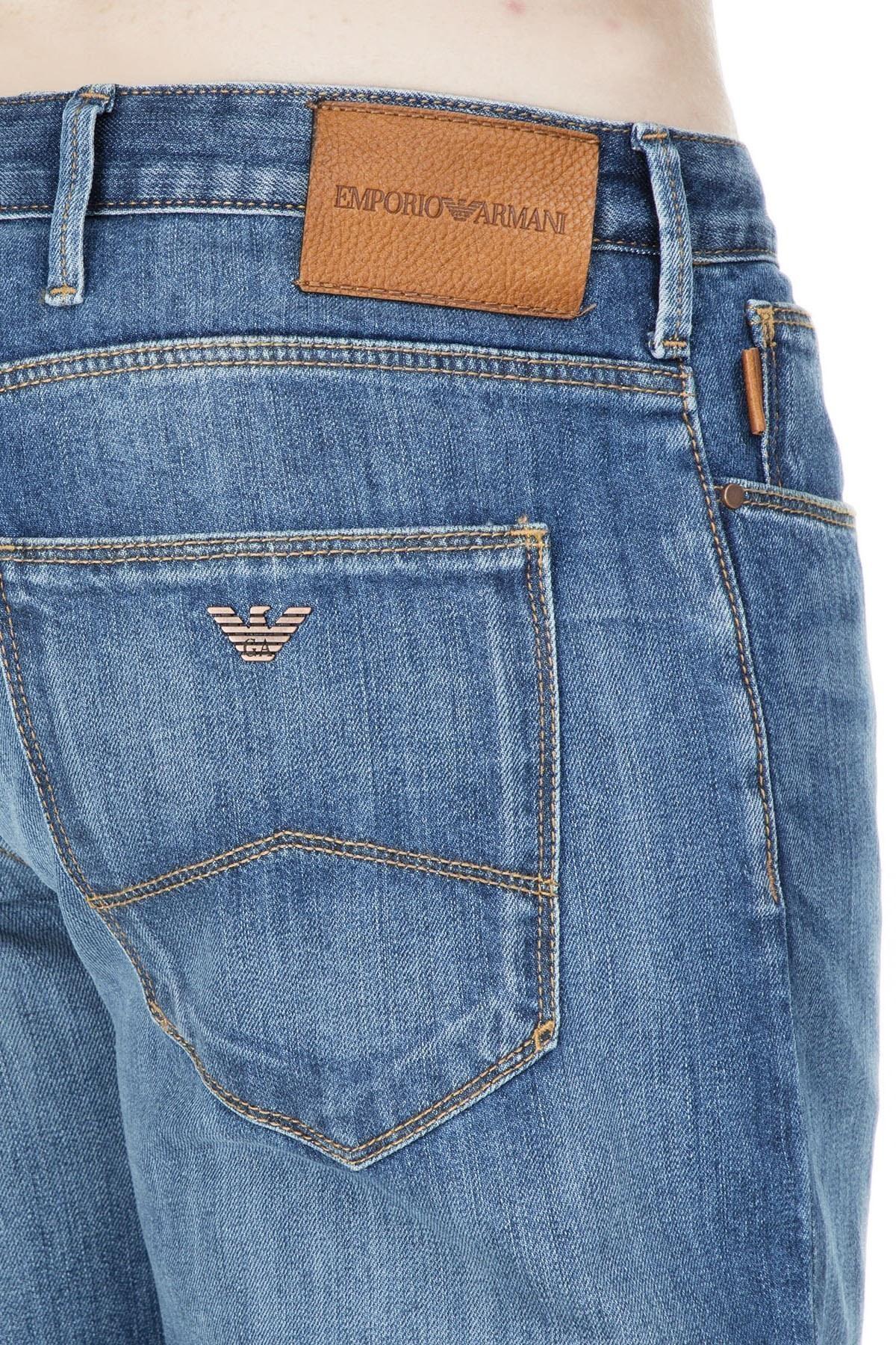 Emporio Armani J06 Jeans Erkek Kot Pantolon S 3G1J06 1D5QZ 942 KOYU MAVİ