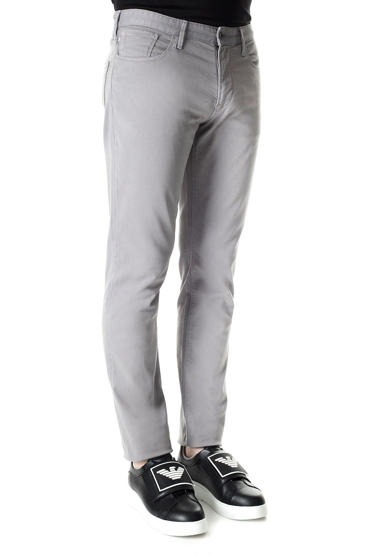 Emporio Armani J06 Jeans Erkek Pamuklu Pantolon 3H1J06 1N4ZZ 0653 GRİ