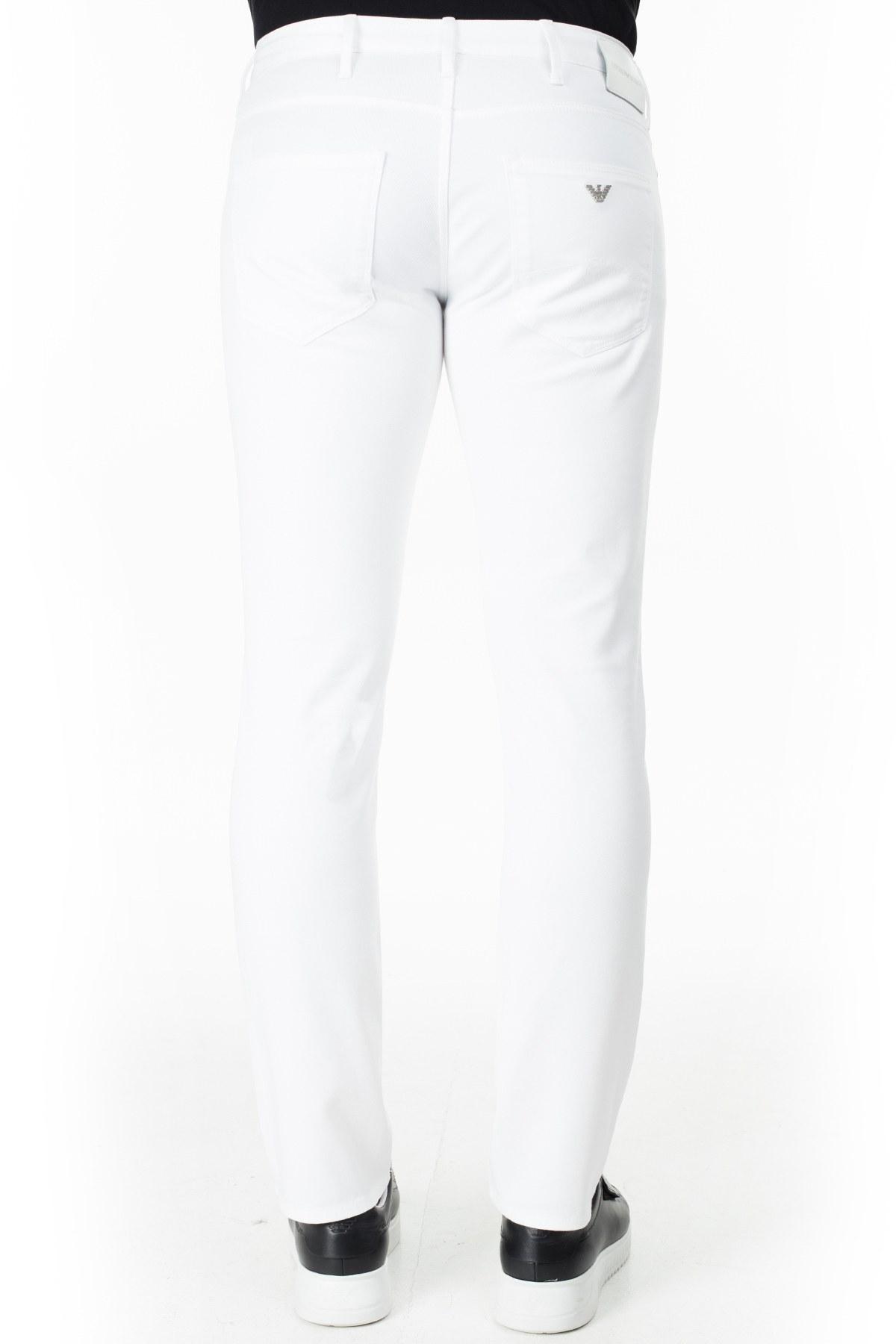 Emporio Armani J06 Jeans Erkek Pamuklu Pantolon 3H1J06 1N8XZ 0100 BEYAZ