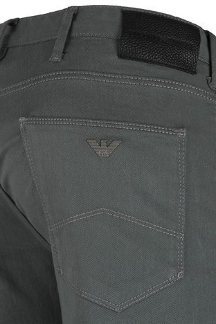 EMPORIO ARMANI J06 JEANS Erkek Pamuklu Pantolon 3Z1J06 1N4CZ 0610 GRİ