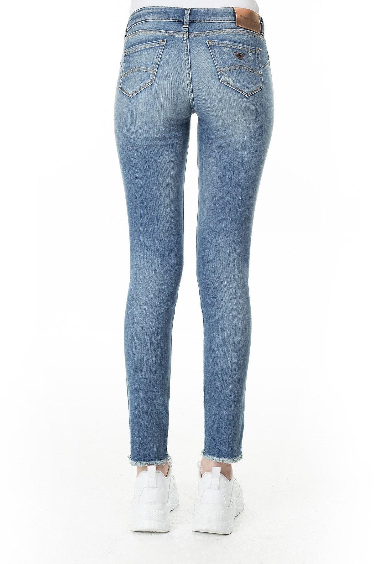 Emporio Armani J23 Jeans Bayan Kot Pantolon 3H2J23 2D3RZ 0941 MAVİ