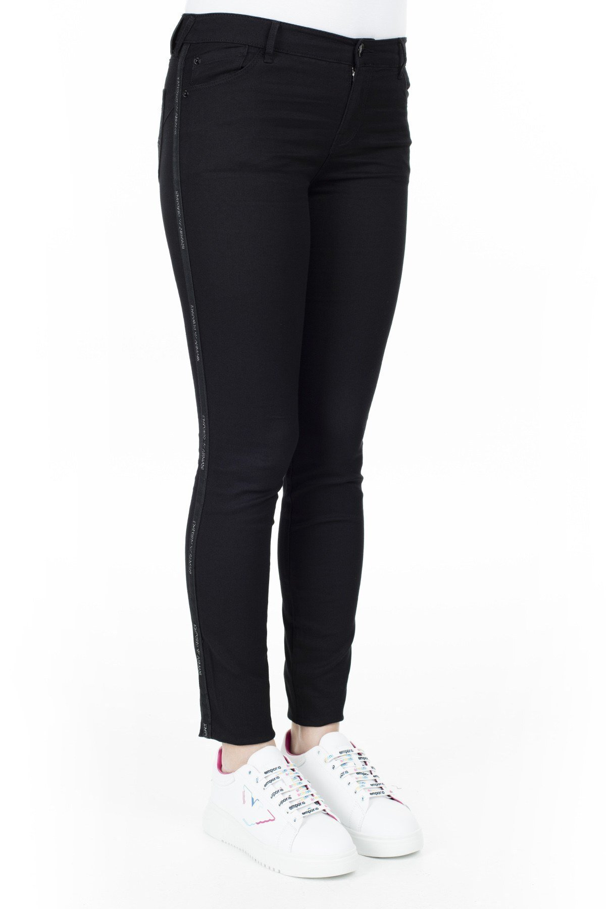 Emporio Armani J23 Jeans Bayan Kot Pantolon 3H2J23 2DXIZ 0005 SİYAH