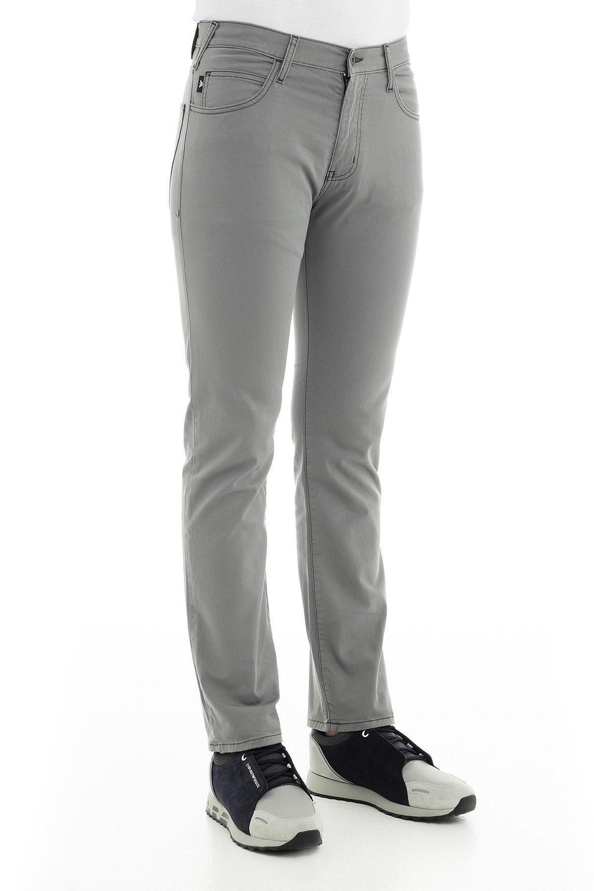 Emporio Armani J45 Jeans Erkek Pamuklu Pantolon 8N1J45 1N0LZ 0644 GRİ