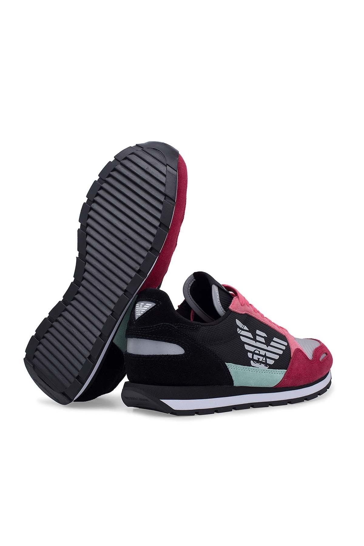Emporio Armani Bayan Ayakkabı S X3X058 XL481 R528 SİYAH-PEMBE