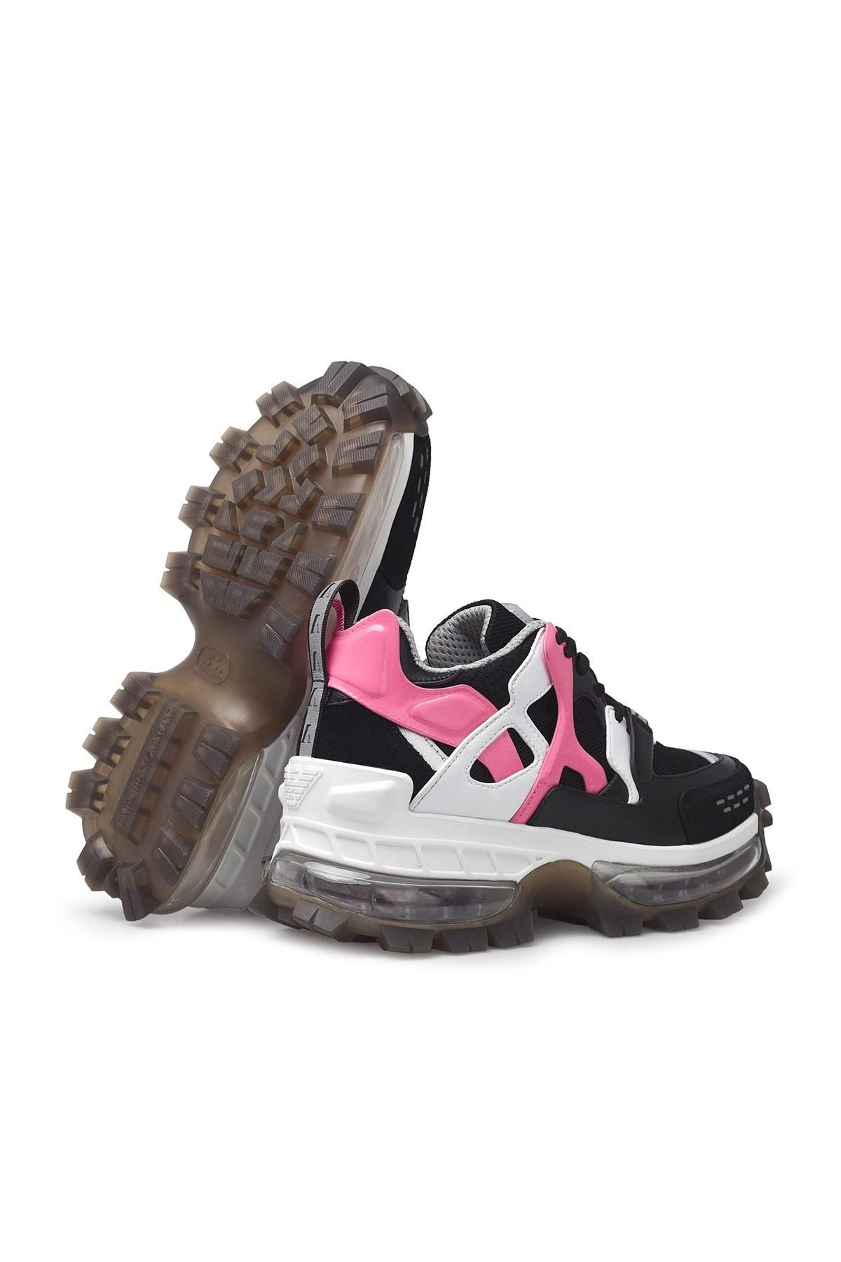 Emporio Armani Bayan Ayakkabı X3C156 XM515 N122 SİYAH-PEMBE