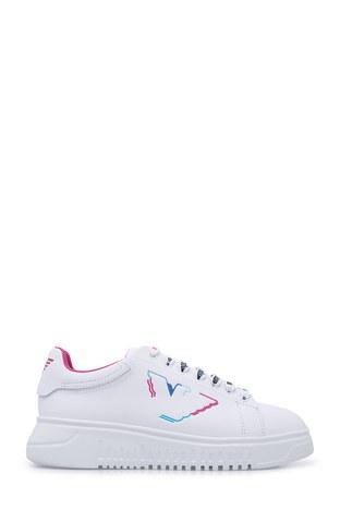 Emporio Armani - Emporio Armani Kadın Ayakkabı X3X024 XM270 R740 BEYAZ