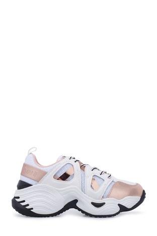 Emporio Armani - Emporio Armani Kadın Ayakkabı X3X099 XM250 R700 BEYAZ-GOLD