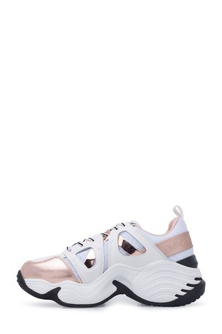 Emporio Armani - Emporio Armani Kadın Ayakkabı X3X099 XM250 R700 BEYAZ-GOLD (1)