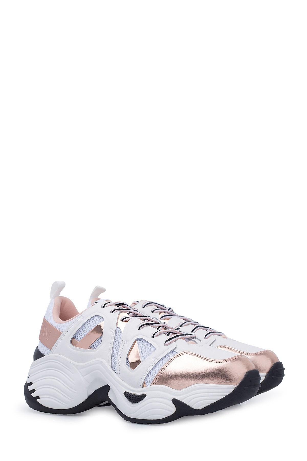 Emporio Armani Kadın Ayakkabı X3X099 XM250 R700 BEYAZ-GOLD