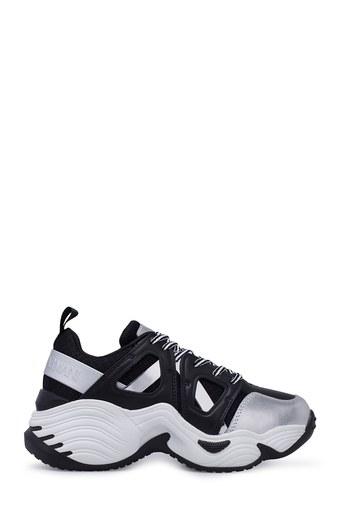 Emporio Armani Kadın Ayakkabı X3X099 XM250 R701 SİYAH-GÜMÜŞ
