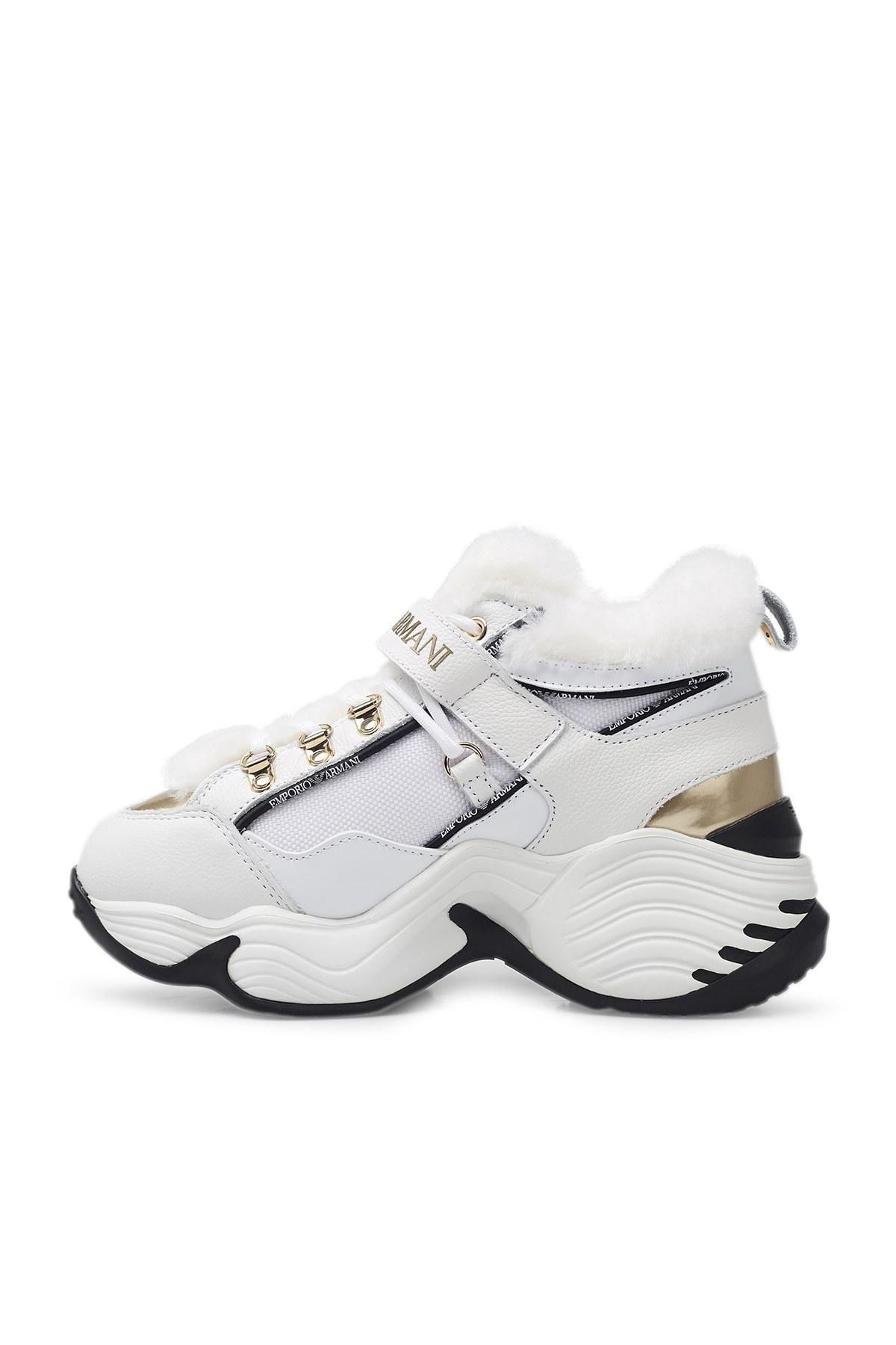 Emporio Armani Bayan Ayakkabı X3X122 XM538 N186 BEYAZ