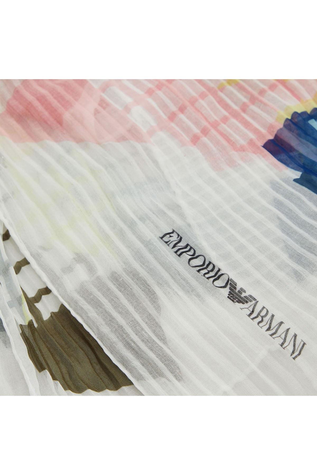 Emporio Armani Kadın Şal 635386 9P356 00410 BEYAZ
