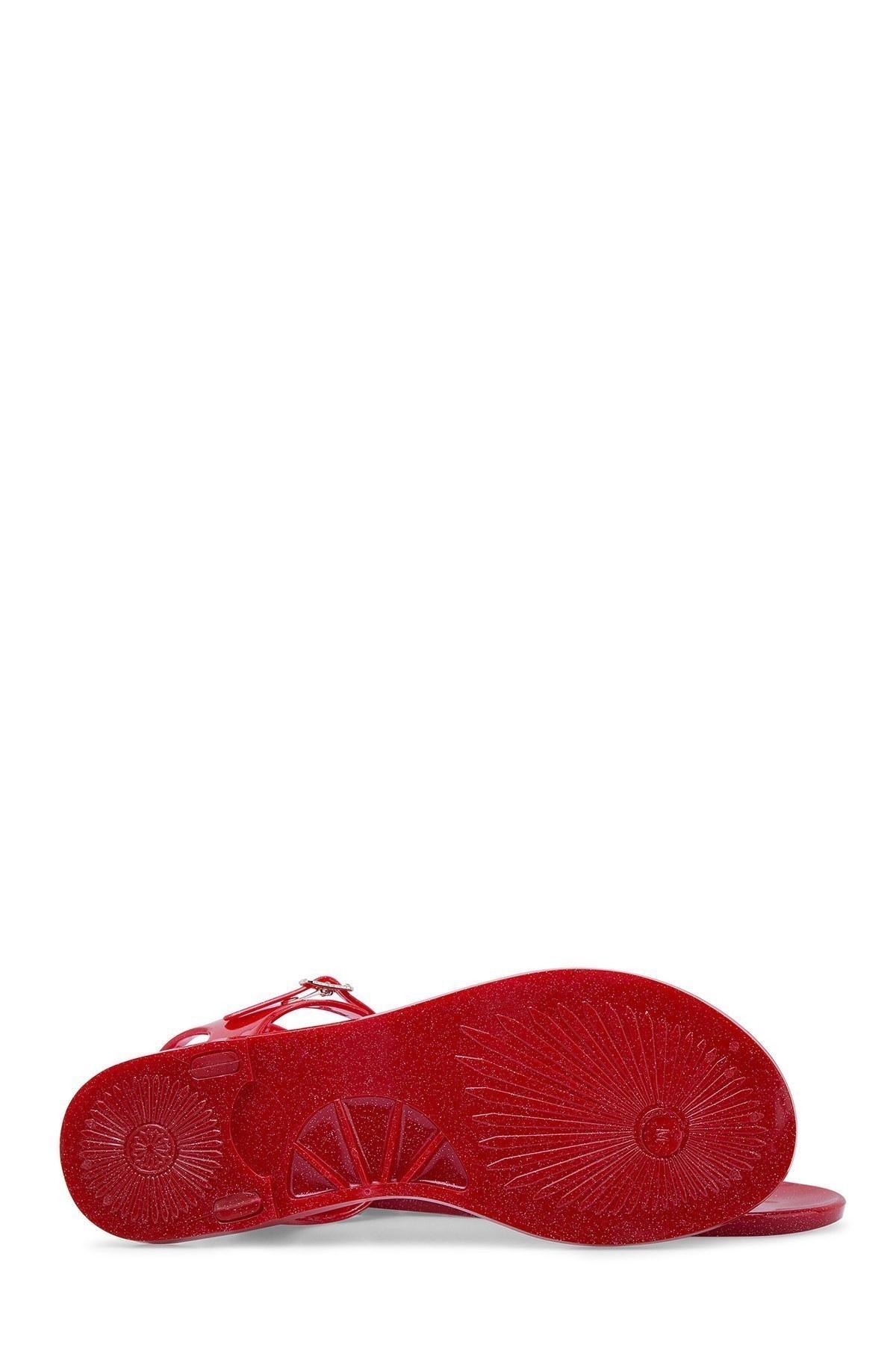 Emporio Armani Kadın Sandalet X3QS06 XL816 M604 Kırmızı-Gold