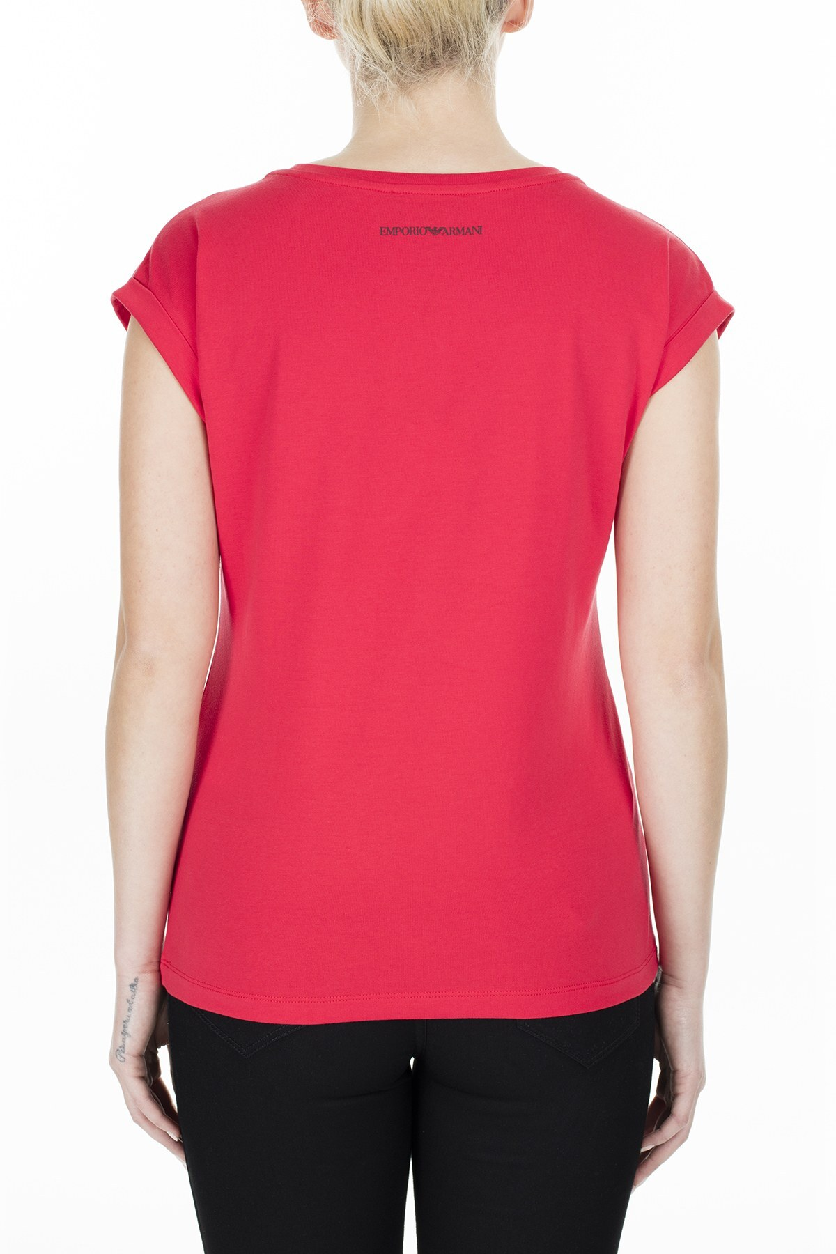 Emporio Armani Bayan T Shirt 3H2T6A 2JQAZ 0334 KIRMIZI