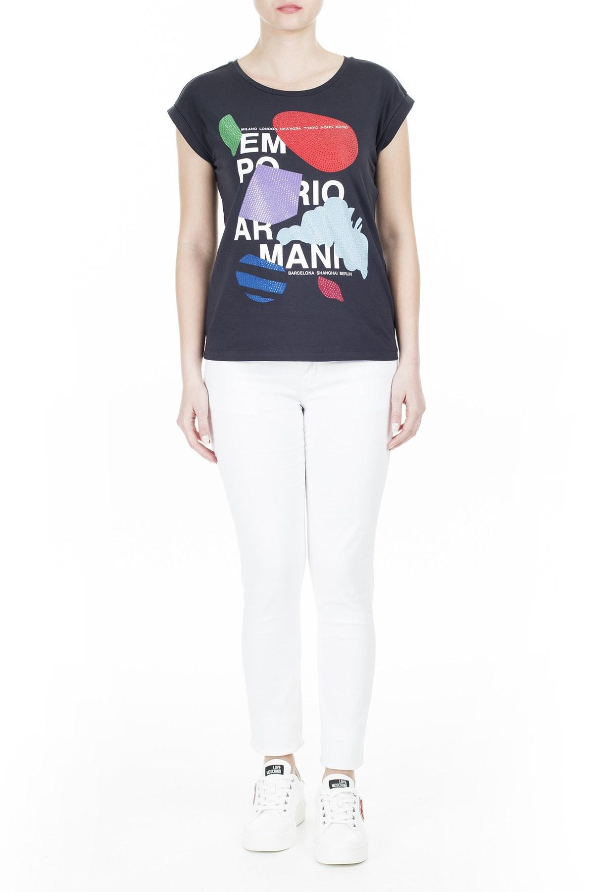 Emporio Armani Bayan T Shirt 3H2T6A 2JQAZ 0922 LACİVERT