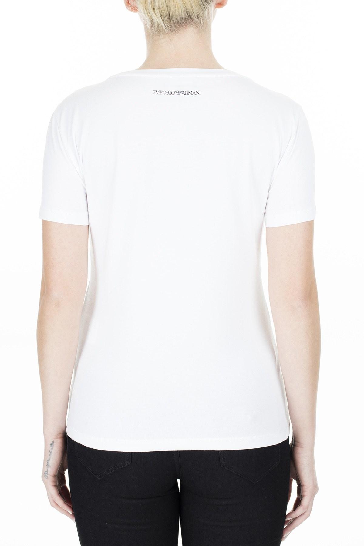 Emporio Armani Bayan T Shirt 3H2T6C 2JQAZ 0100 BEYAZ