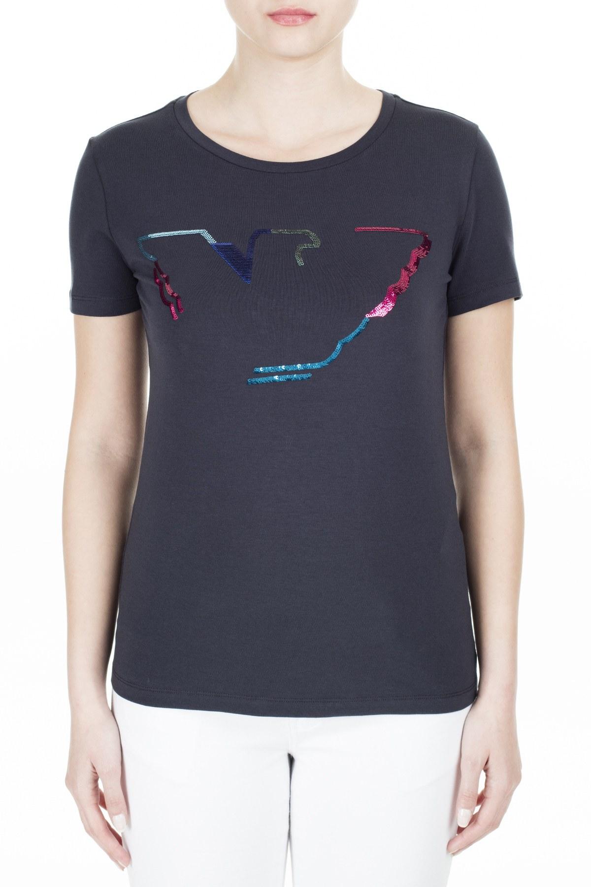 Emporio Armani Bayan T Shirt 3H2T6C 2JQAZ 0922 LACİVERT