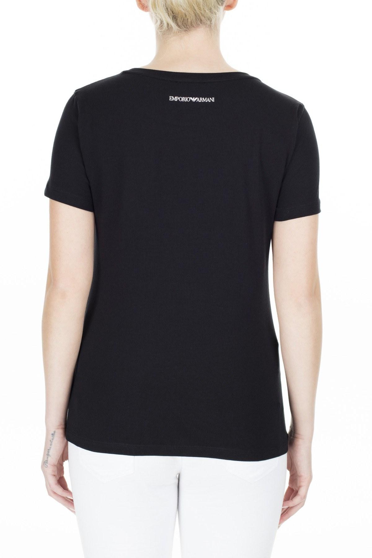 Emporio Armani Kadın T Shirt 3H2T6C 2JQAZ 0999 SİYAH