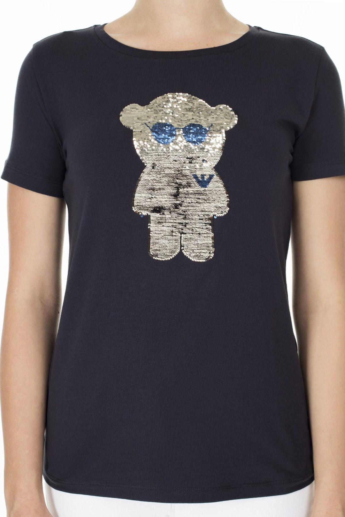 Emporio Armani Kadın T Shirt 3H2T6Q 2JQAZ 0922 LACİVERT