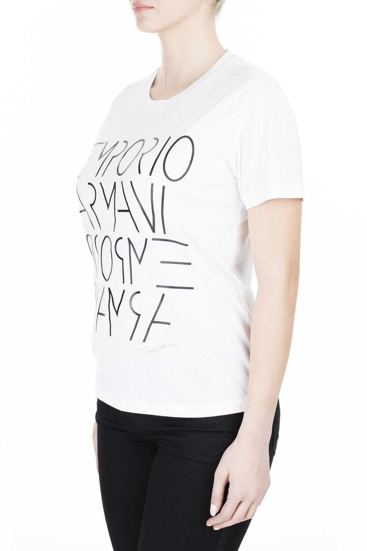 Emporio Armani Bayan T Shirt 3H2T7B 2JSYZ 0100 BEYAZ