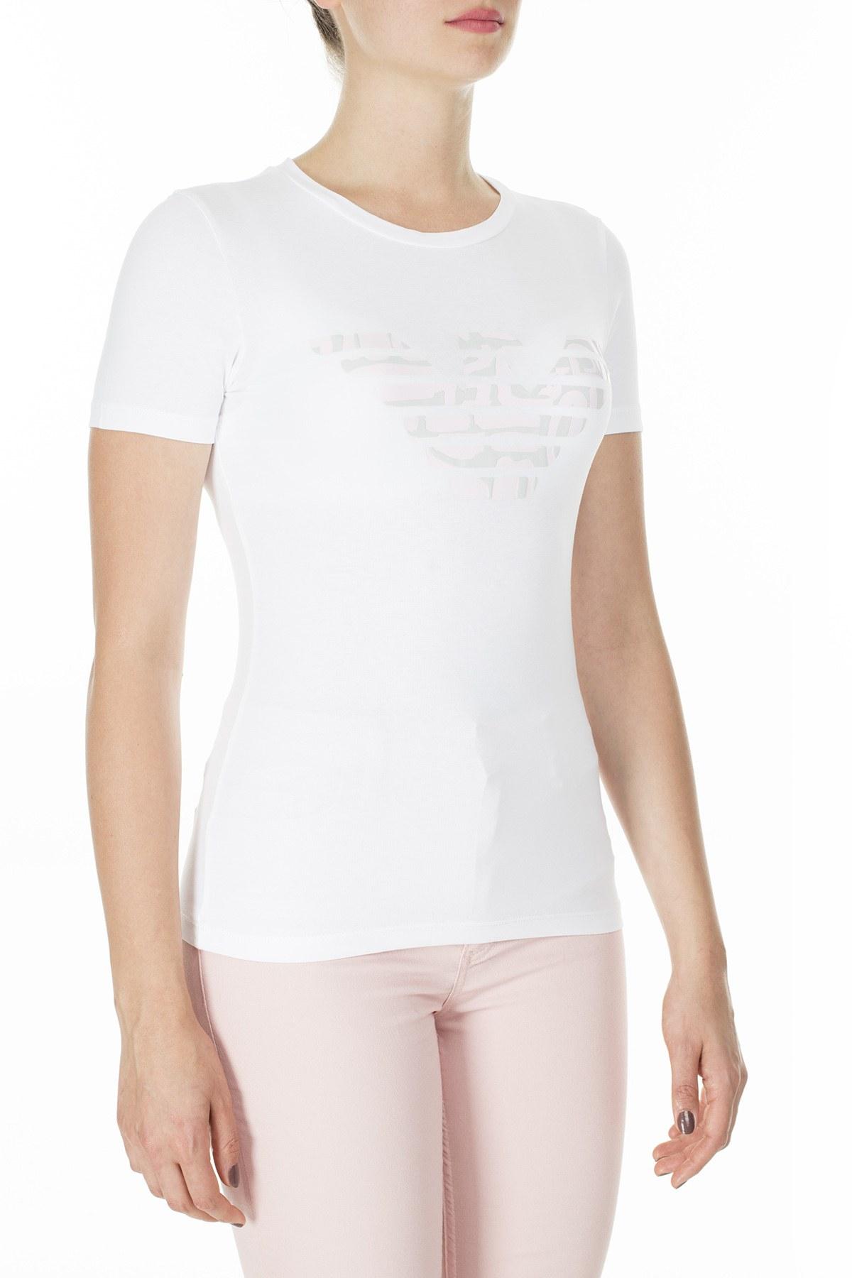 Emporio Armani Bayan T Shirt 3H2T8A 2J07Z 0100 BEYAZ